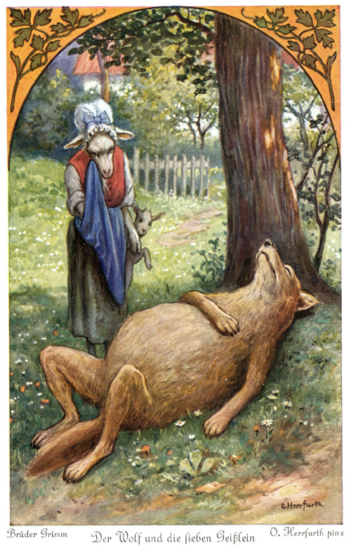 Grimm Fairy Tales Little Red Riding Hood Das Goethezeitportal: ...