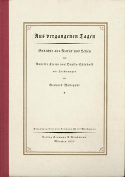 Das Goethezeitportal Gedichte Von Droste Hülshoff Mit