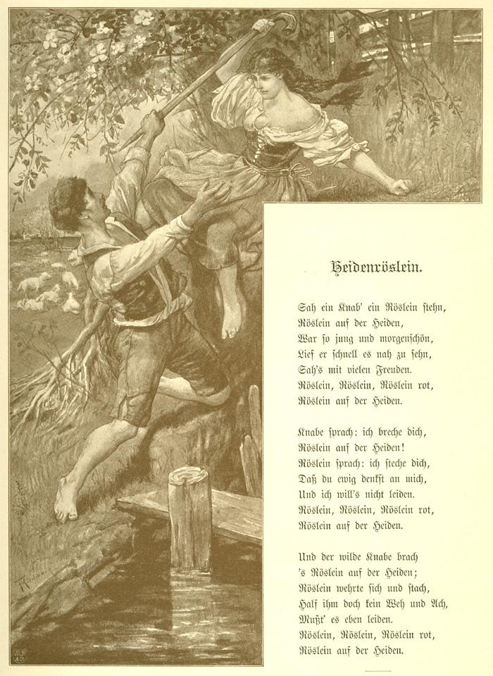 Das Goethezeitportal Goethes Gedichte Illustriert Von