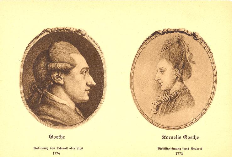 Briefe Von Goethes Mutter : Das goethezeitportal die familie goethes im bild