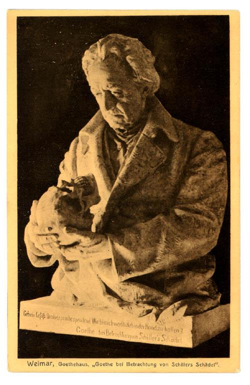 Gustav Eberlein Goethe Bei Betrachtung Von Schillers Schadel