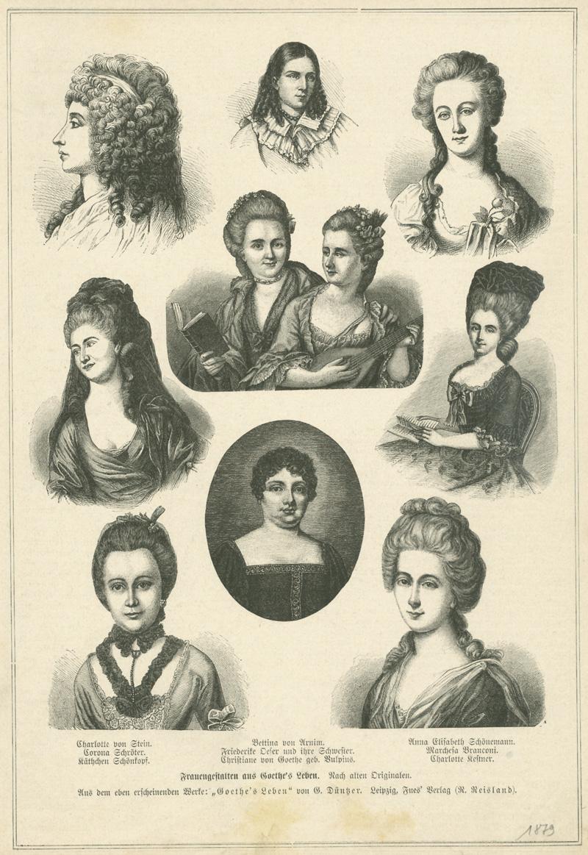 Das Goethezeitportal Goethes Freundinnen In 12 Historischen Bildnissen