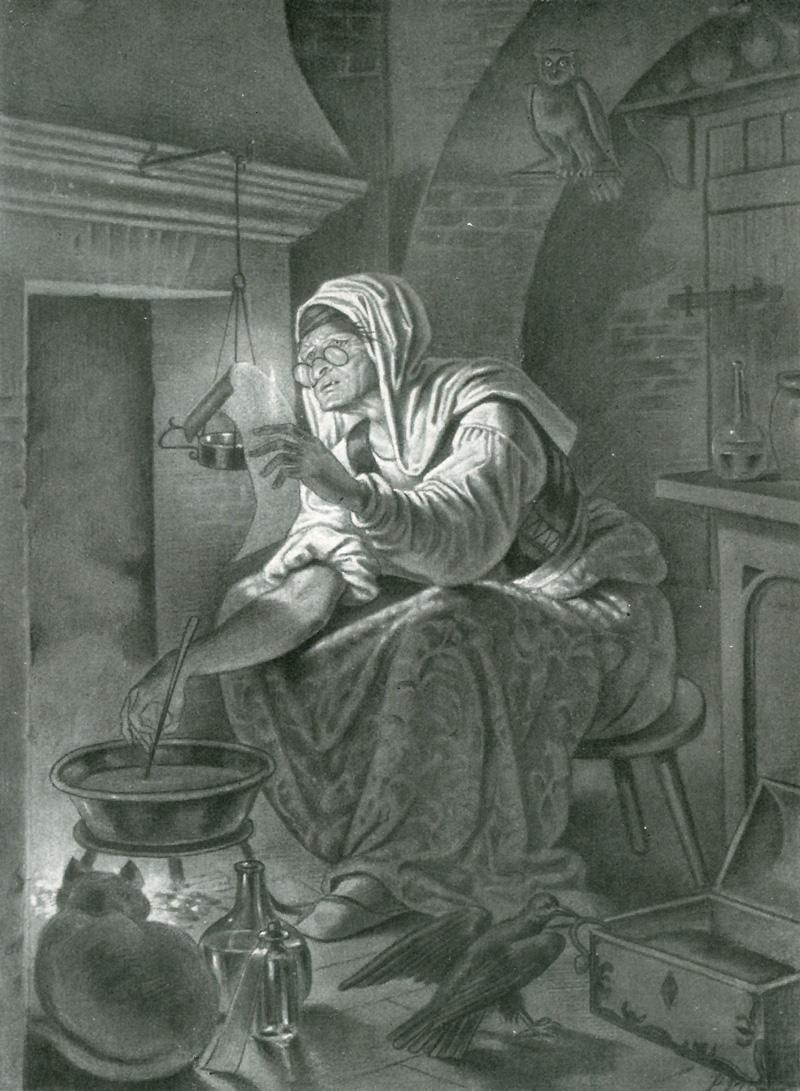 Paul Mila, Illustration Zu Goethes Faust, Hexenküche
