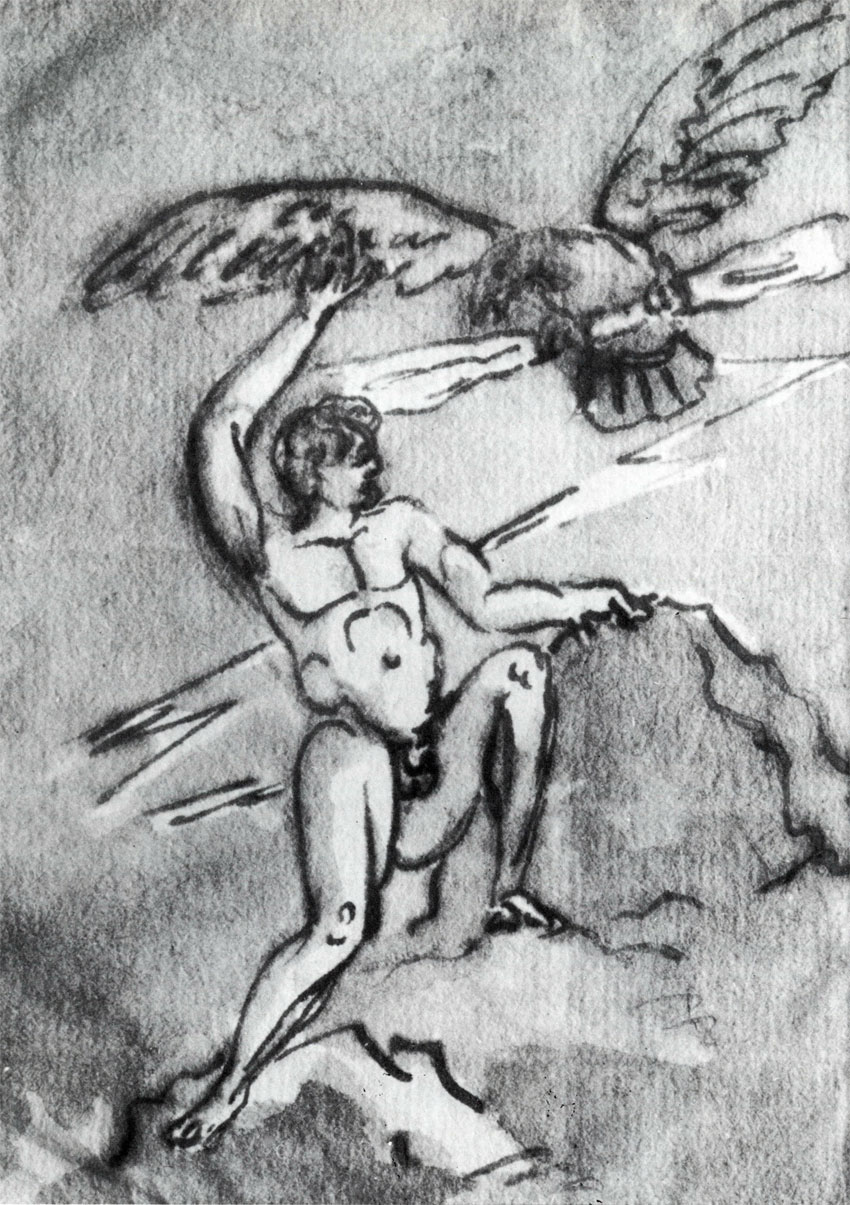 prometheus goethe Prometheus by johann wolfgang von goethe cover thy spacious heavens zeus with clouds of mist and like the boy who lops the thistles heads disport with oaks and mountainpeaks yet thou must.