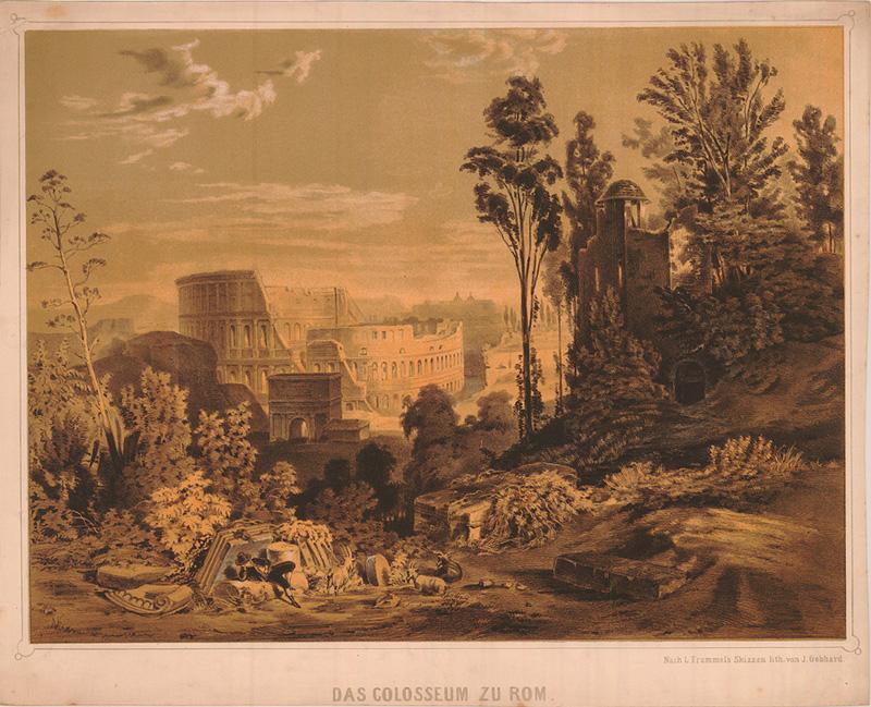 Il Colosseo nei viaggi di Goethe dans immagini belle Colosseum_Frommel__800x649_