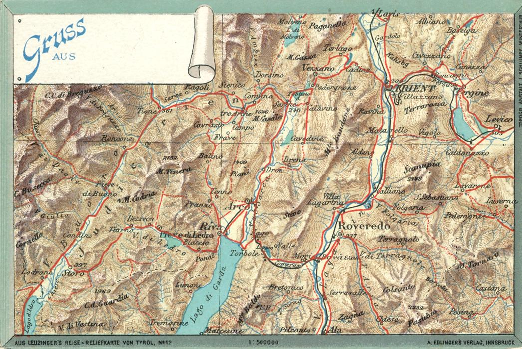Karte Italien Gardasee.Das Goethezeitportal Goethe Am Gardasee
