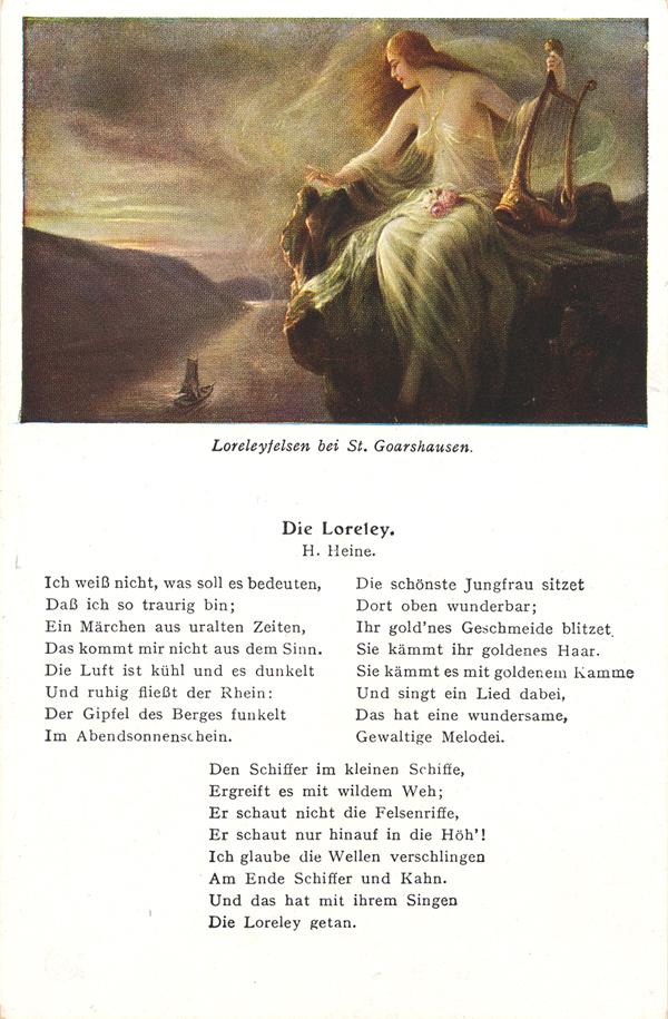 Gedicht heinrich heine loreley