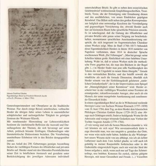 Briefe Von Napoleon : Das goethezeitportal blatt johann gottfried herder