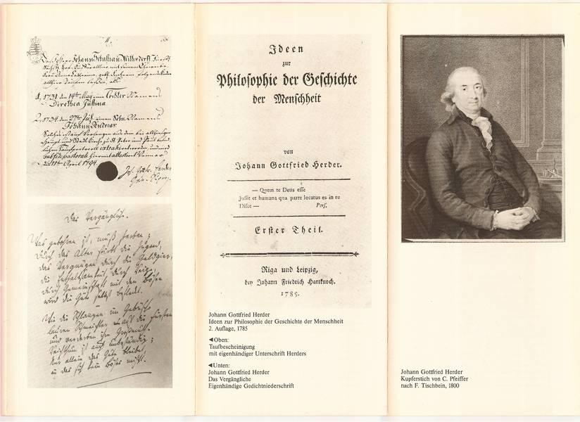 Johann Gottfried Herder fragmente